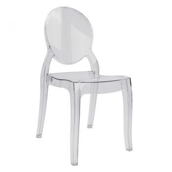 καρέκλα διάφανη