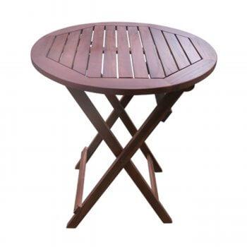 EASY Τραπέζι Φ70cm Πτυσσόμενο Acacia